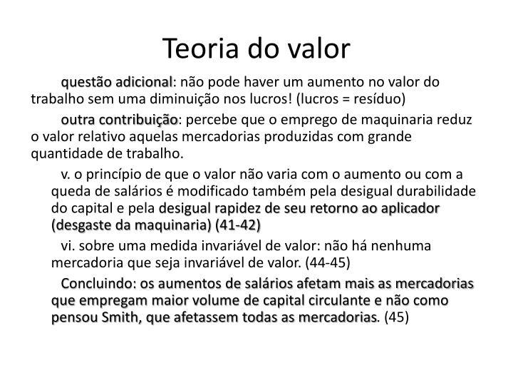 Teoria do valor