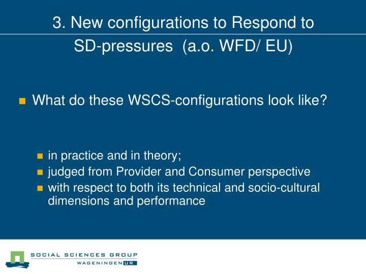 3. New configurations to Respond to