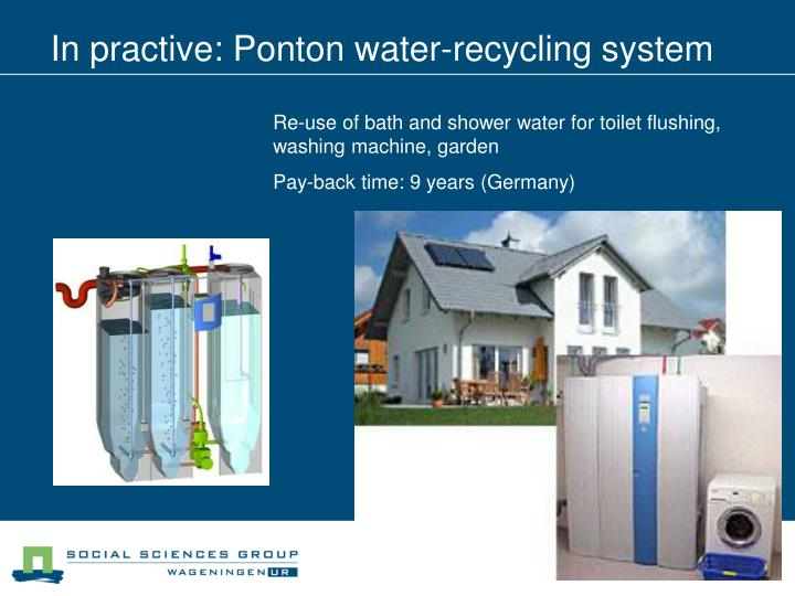 In practive: Ponton water-recycling system