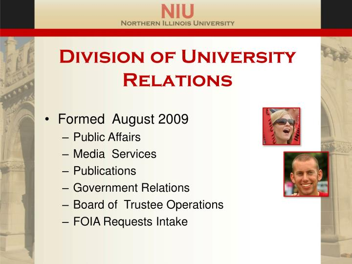 Division of university relations