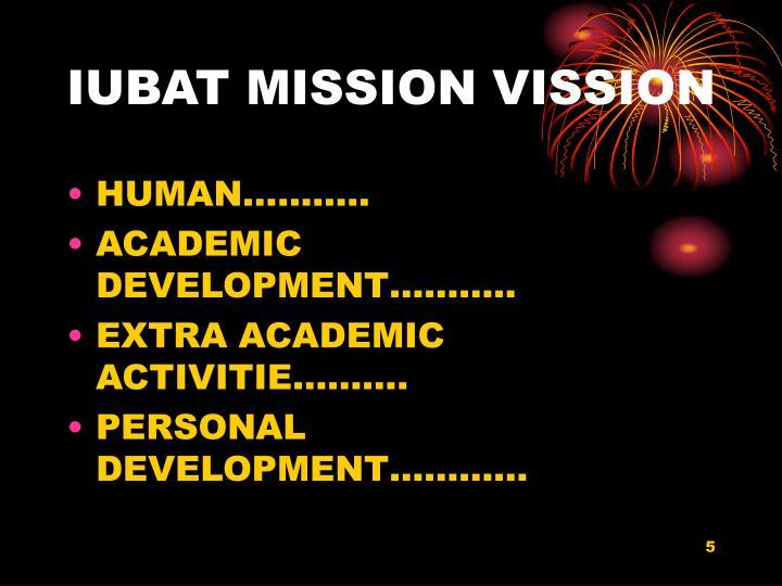 IUBAT MISSION VISSION