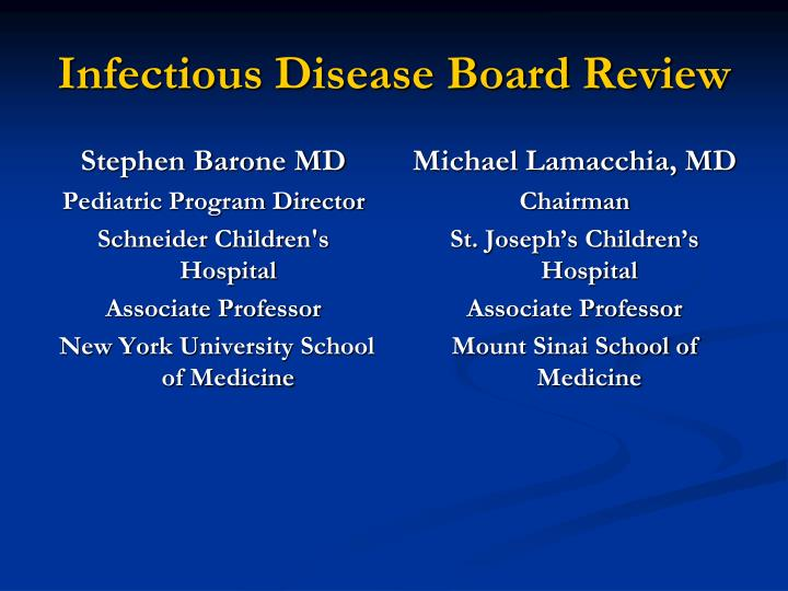 infectious disease board review n.