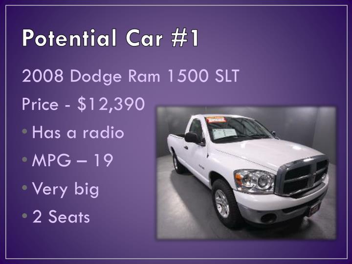Potential car 1
