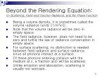 beyond the rendering equation in scattering field and volume radiance and the phase function2