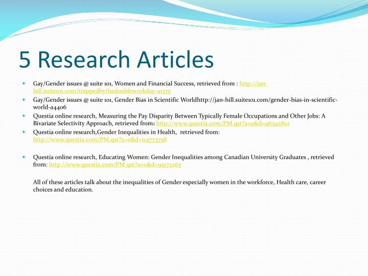 5 Research Articles
