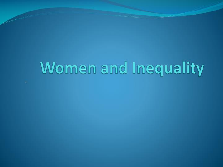 Women and inequality