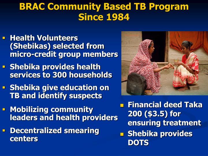 BRAC Community Based TB Program