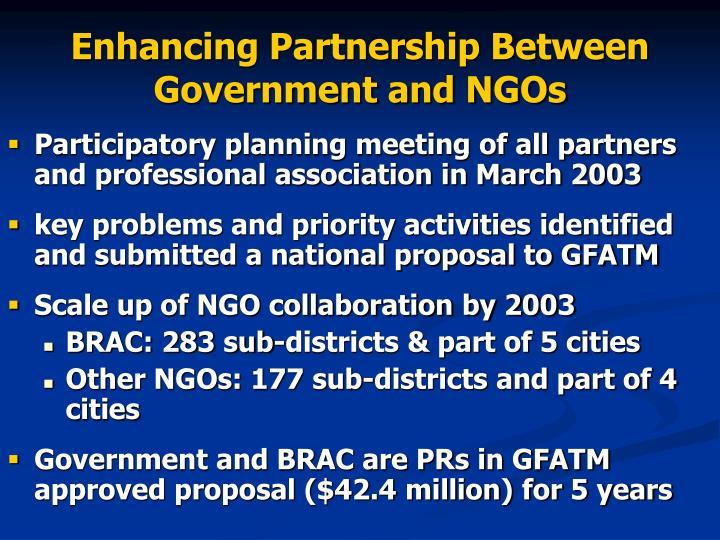 Enhancing Partnership Between Government and NGOs