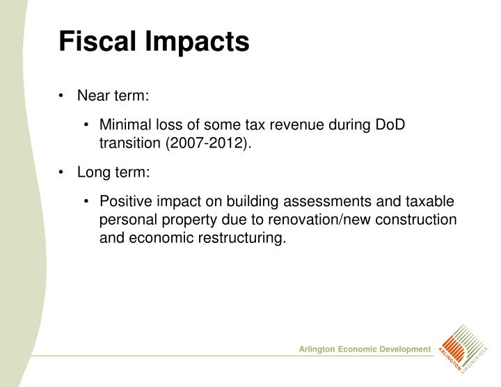 Fiscal Impacts