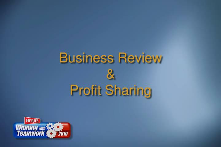business review profit sharing n.