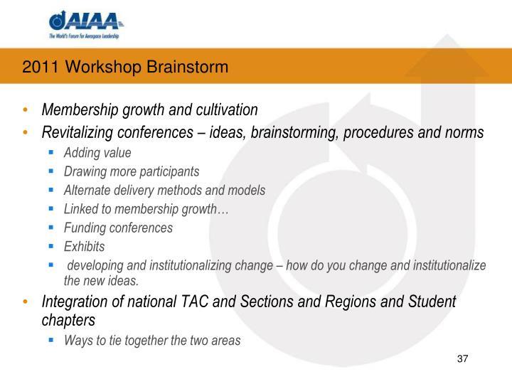 2011 Workshop Brainstorm