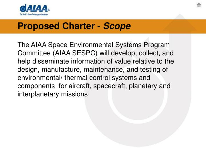 Proposed Charter -