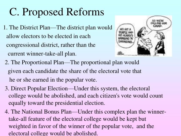 C. Proposed Reforms