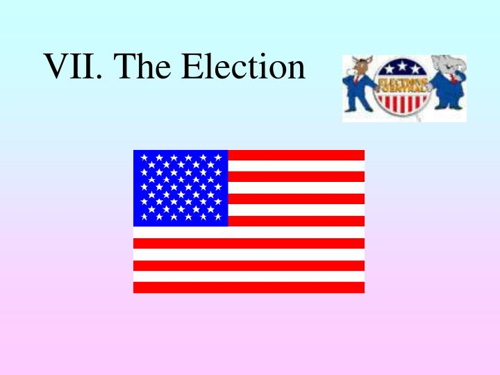 VII. The Election