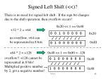 signed left shift