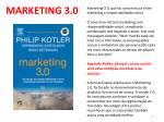 marketing 3 0