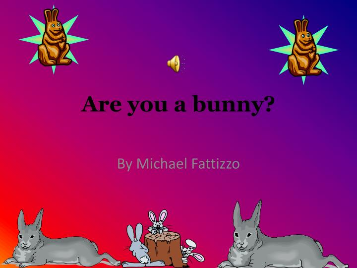 Are you a bunny
