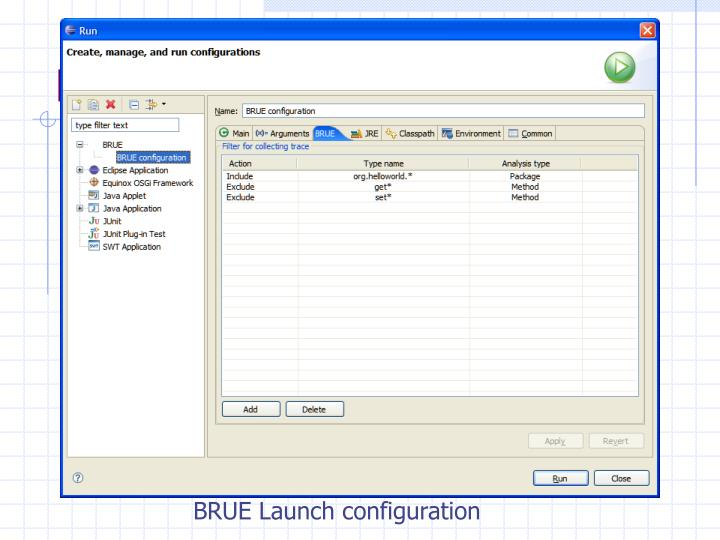Launching BRUE (Screenshot)