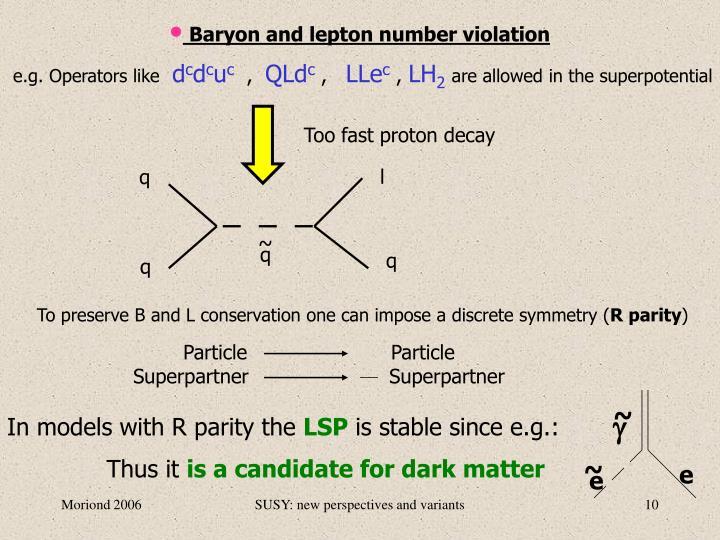 Baryon and lepton number violation