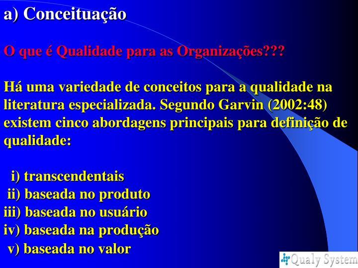 a) Conceituação