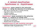 a related classification synchronous vs asynchronous