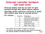 interrupt controller hardware and mask levels