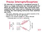 precise interrupts exceptions
