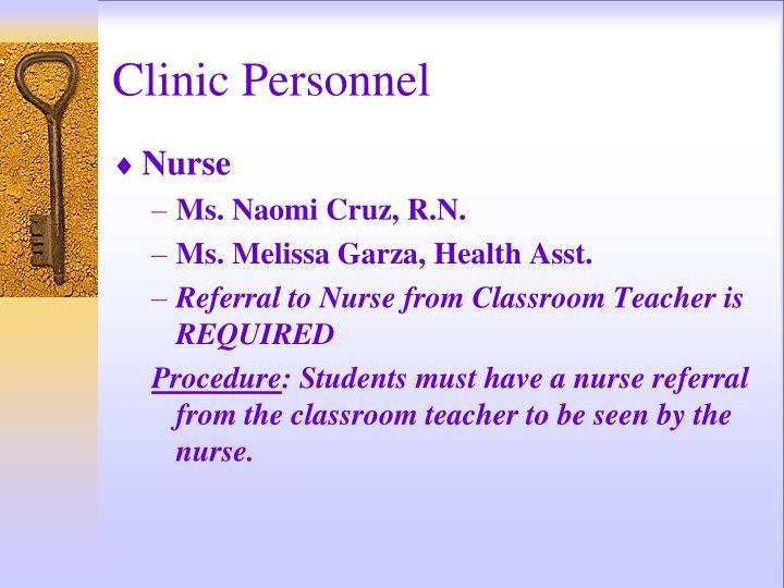 Clinic Personnel