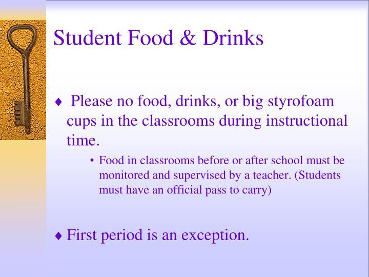 Student Food & Drinks
