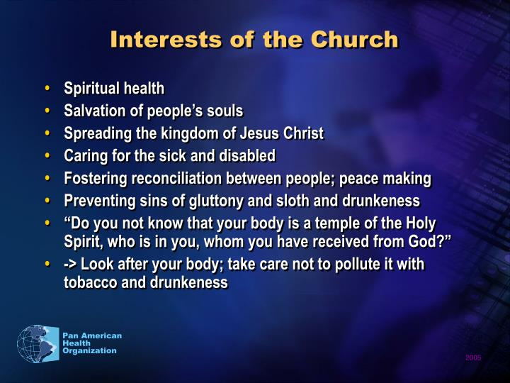 Interests of the Church