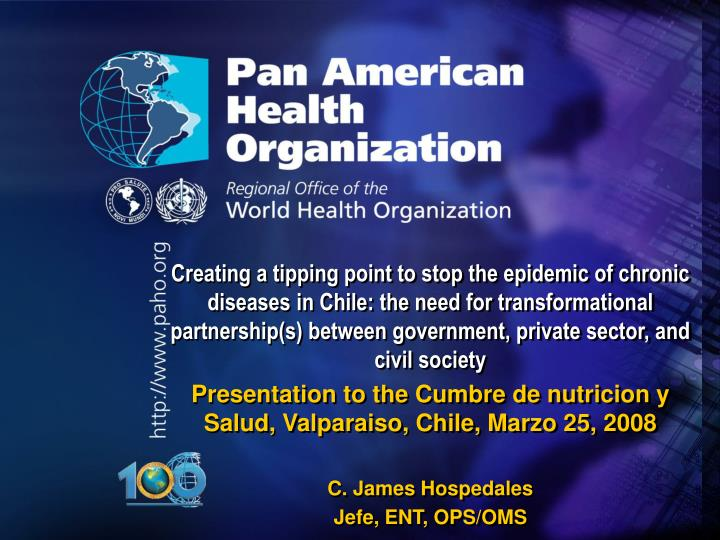 Creating a tipping point to stop the epidemic of chronic diseases in Chile: the need for transformat...