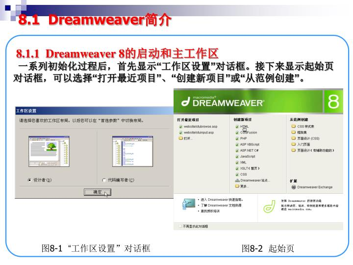 8.1  Dreamweaver