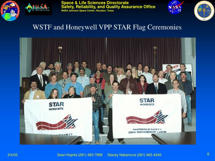 WSTF and Honeywell VPP STAR Flag Ceremonies