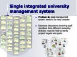 single integrated university management system