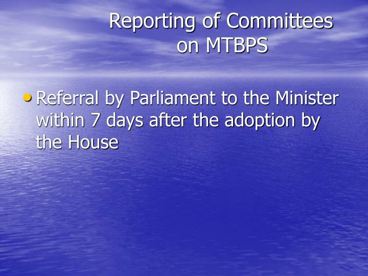 Reporting of Committees