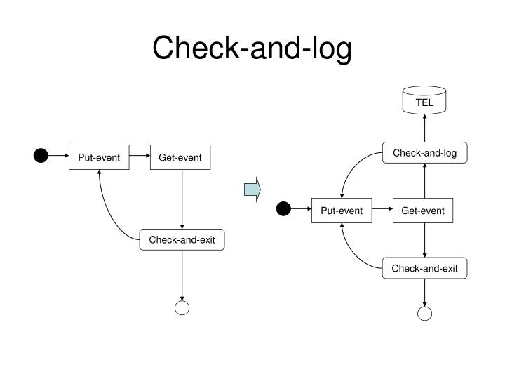Check and log