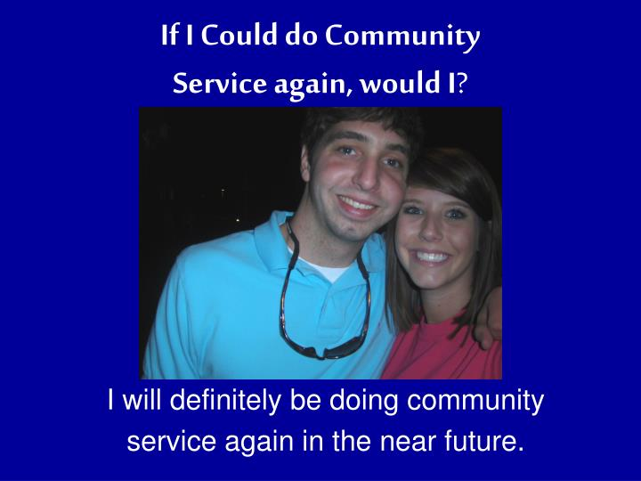 If I Could do Community