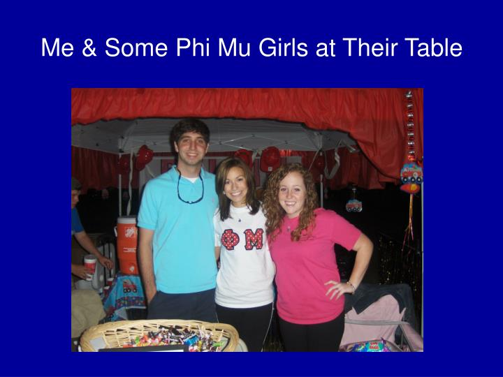 Me & Some Phi Mu Girls at Their Table