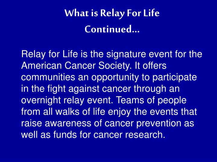 What is Relay For Life