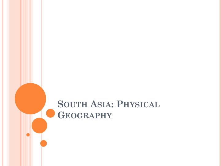 south asia physical geography n.