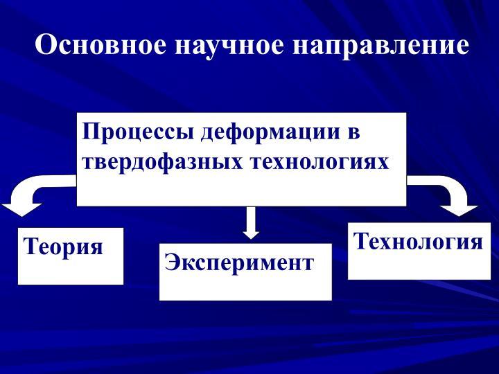 Процессы деформации в твердофазных технологиях