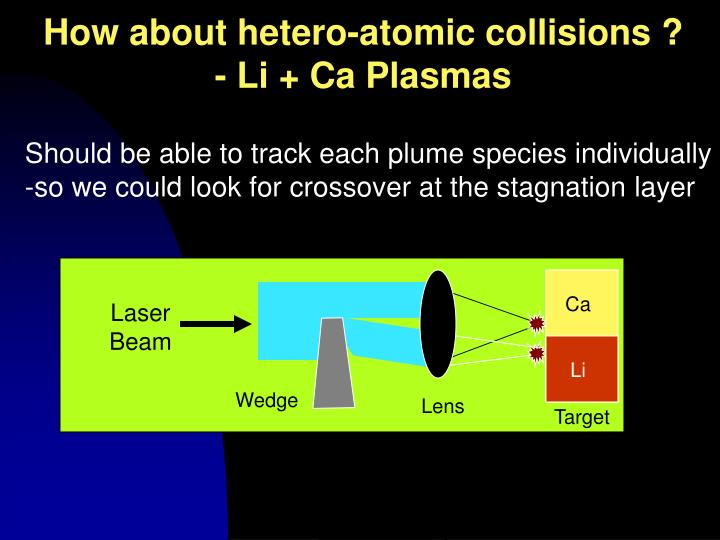 How about hetero-atomic collisions ?