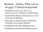 brisbane sydney what can we do now cultural background