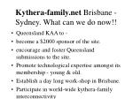 kythera family net brisbane sydney what can we do now