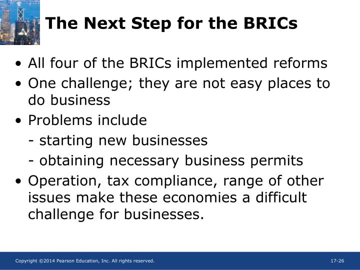 The Next Step for the BRICs