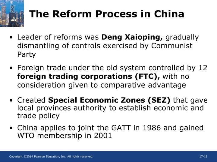 The Reform Process in China