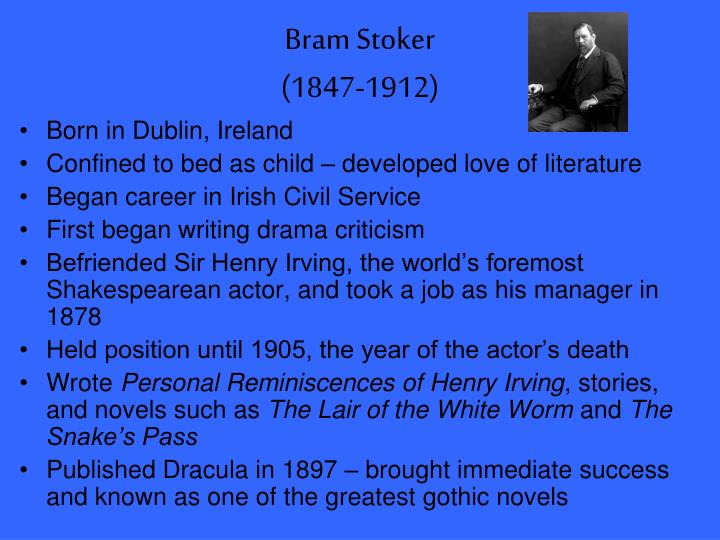 a literary analysis of the novel dracula by bram stoker
