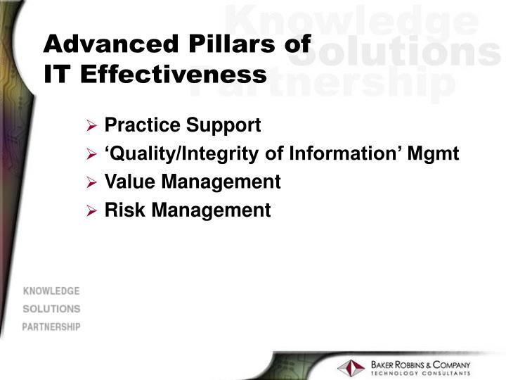 Advanced Pillars of
