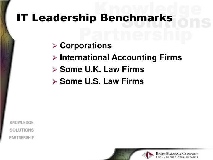 IT Leadership Benchmarks