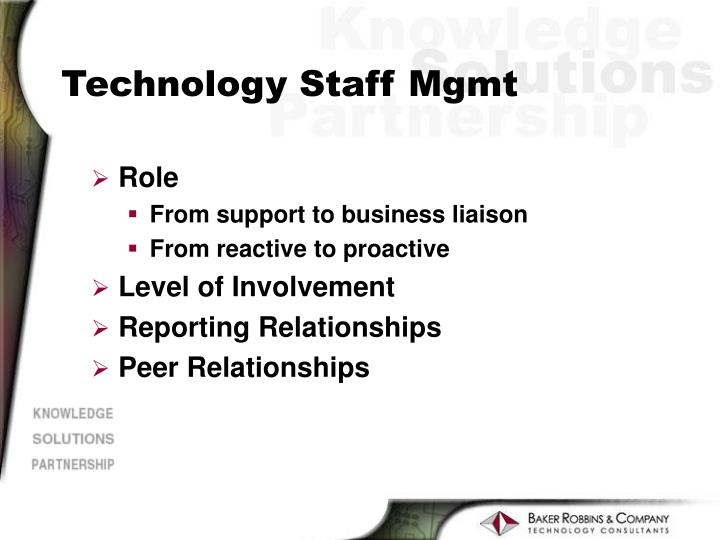 Technology Staff Mgmt